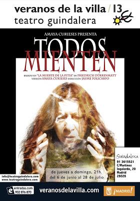 poster TODOS MIENTEN 2013 veranos de la villa con fechas BAJA